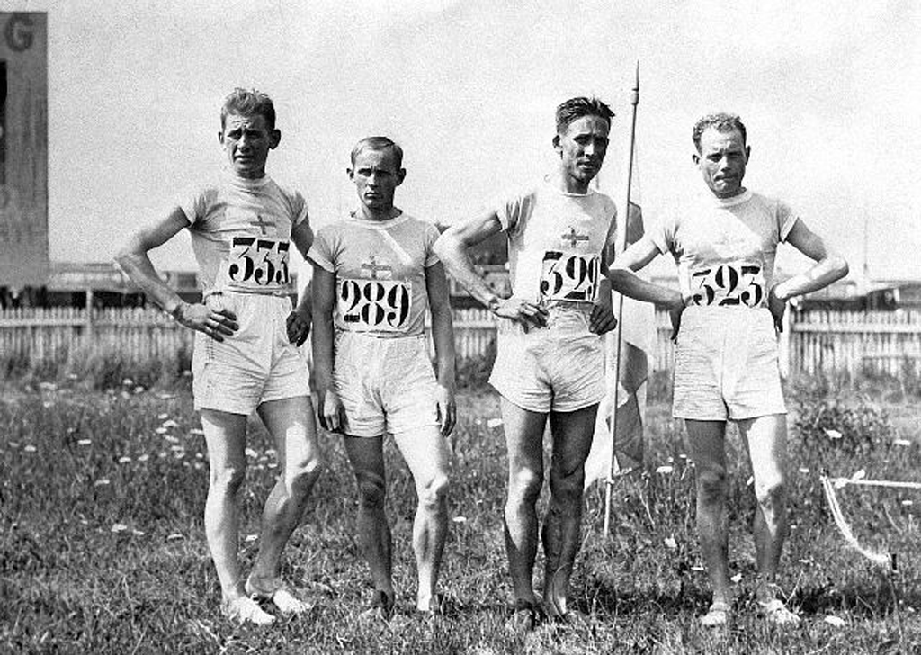 Paavo Nurmi and Olympic Teammates