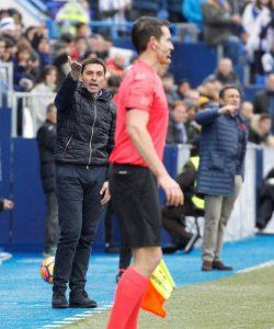 GRAF620. LEGANÉS (MADRID), 07/01/2018.- GRAF620. LEGANÉS (MADRID), 07/01/2018.- El entrenador del Leganés, Asier Garitano (i), y el de la Real Sociedad, Eusebio Sacristán (d), en la banda durante el partido de la 18ª jornada de la Liga que los dos equipos disputan en el estadio de Butarque, en Leganés (Madrid). EFE/ Víctor Lerena