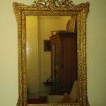 Espejo antiguo restaurado con pan de oro