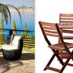 Muebles de terraza. Propuesta de Arteleya (izquierda) y de Ikea (derecha)
