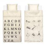 Fundas nórdicas de Ikea en blanco y negro.
