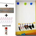 Zapatero con riel Bygel y percheros de Ikea