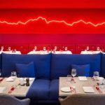4-comedor banco azul-rojo