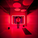 4-sala led rojo