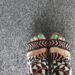 sandalias abalorios