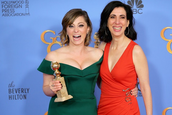 poses in the press room during the 73rd Annual Golden Globe Awards held at the Beverly Hilton Hotel on January 10, 2016 in Beverly Hills, California.