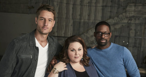 THIS IS US -- Season: 2 -- Pictured: (l-r) Justin Hartley as Kevin, Chrissy Metz as Kate, Sterling K Brown as Randall -- (Photo by: Maarten de Boer/NBC)