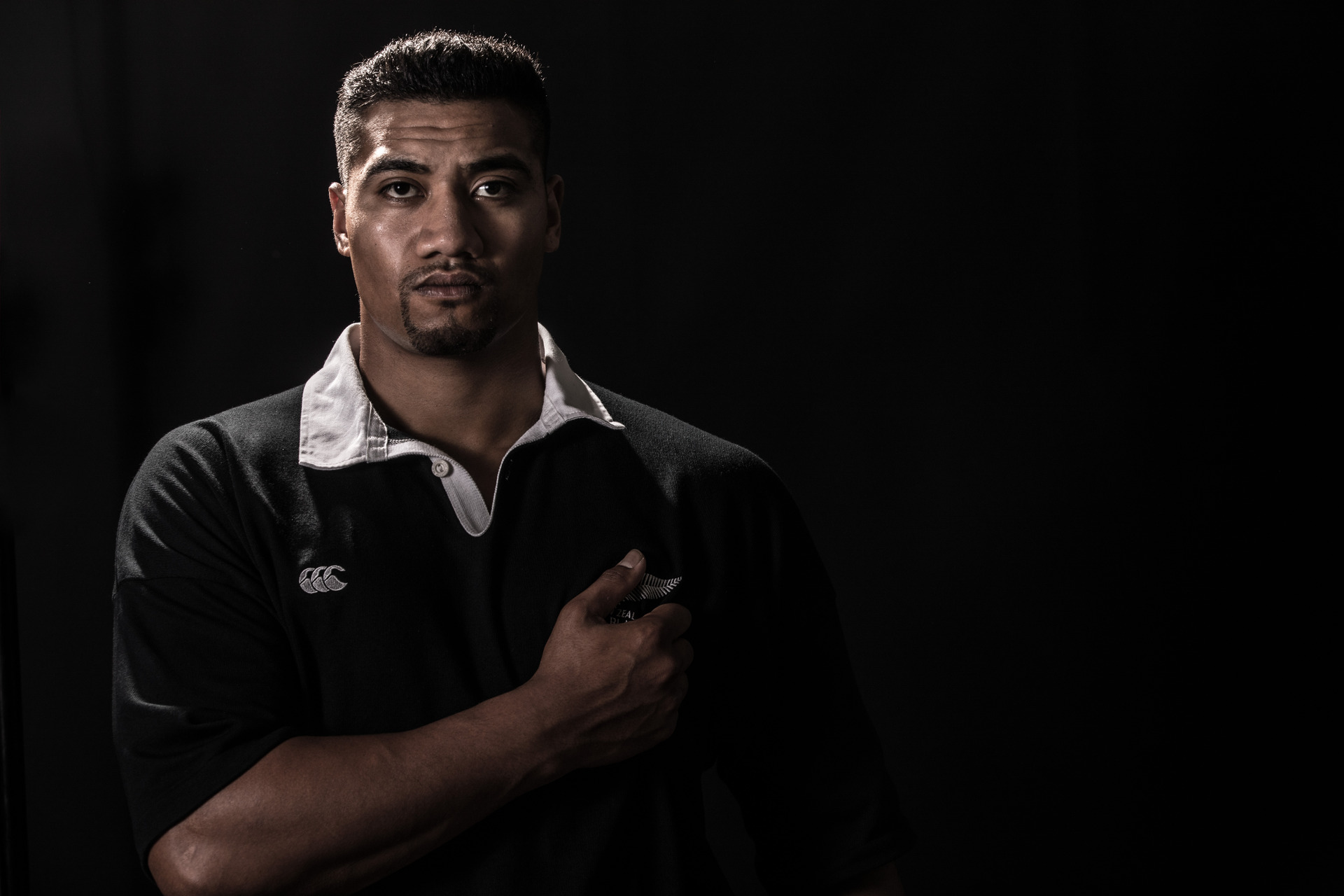 Mosese Veaila plays the late All Black great Jonah Lomu. Photo / Supplied.